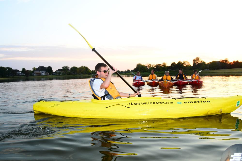 Kayaking near Naperville, IL